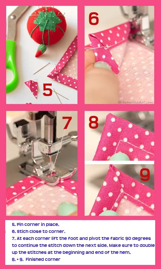 Perfectly Mitred Corners (2 of 2) - Great Tutorial by HotPolkaDot.com: