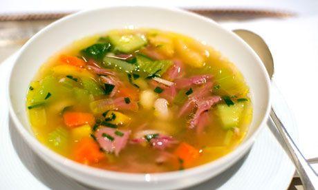 Angela Hartnett's ham hock and cannelini bean soup