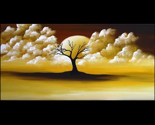 Landscape Painting - Moonlit Dream #2048