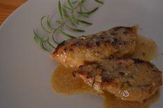 Pechugas de pollo al horno en salsa de mostaza