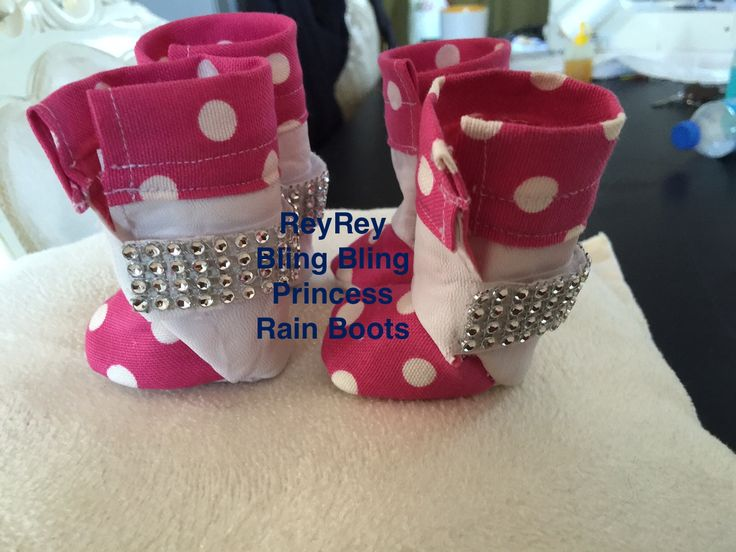 BLİNG BLİNG Rain Boots for the little princess Designed & Handmade by ReyRey Cat&Dog Beds