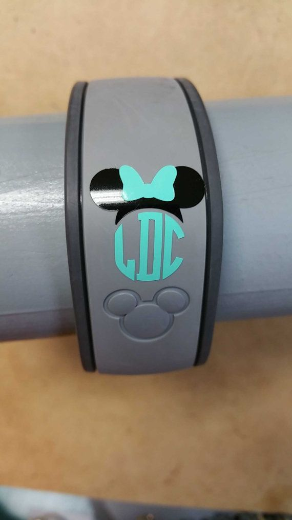 Disney Magic Band Minnie Mouse Monogram by TheMadMonogrammer