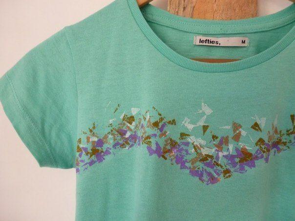 DIY foto návod: Dekor trička pomocí voskovek