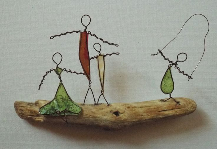 Driftwood, Copper Wire Paper...