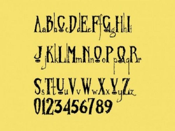 Cool Tattoo Fonts: Awesome Zombified Tattoo Font Designs ~ tattooeve.com Tattoo Ideas Inspiration