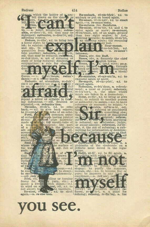 Alice in wonderland bools quotes