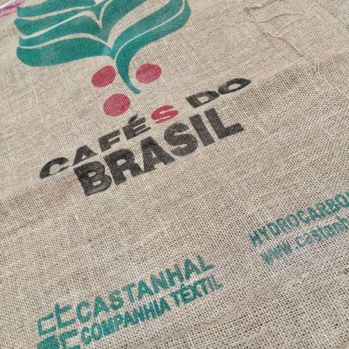 Lot de 4 sacs de jute Cafés Do Brasil