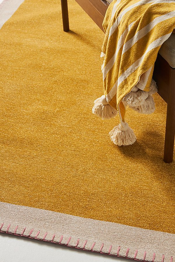 Bordered Chenille Rug In 2020 With