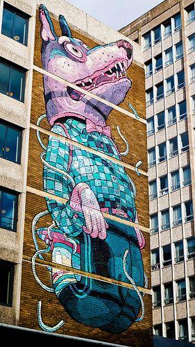 Street Art on Nelson Street, Bristol