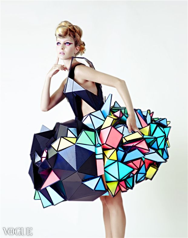 Cubism Cardboard Fashion Ispired By Cubism Photographer