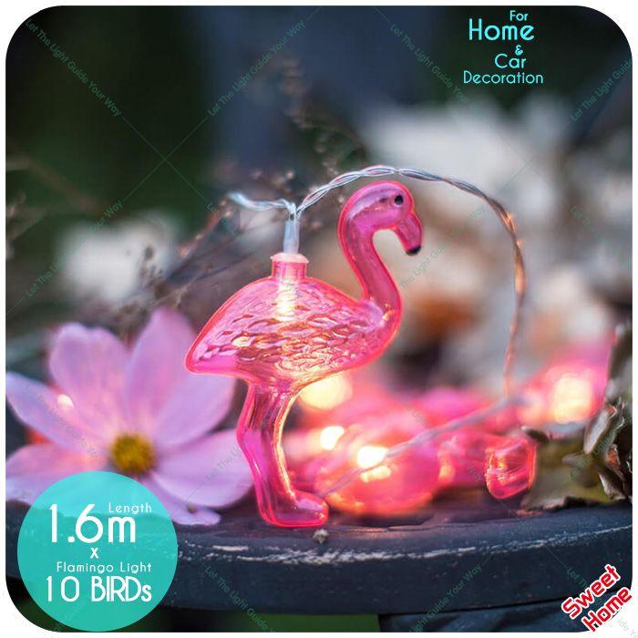 10 leds Luz Cordas Decoração da Festa de Casamento de Fadas flamingo Casa Decorativo Diy Caixa de bateria AA Quarto Menina Decoração Do Pátio em Decorações do partido DIY de Home & Garden no AliExpress.com | Alibaba Group