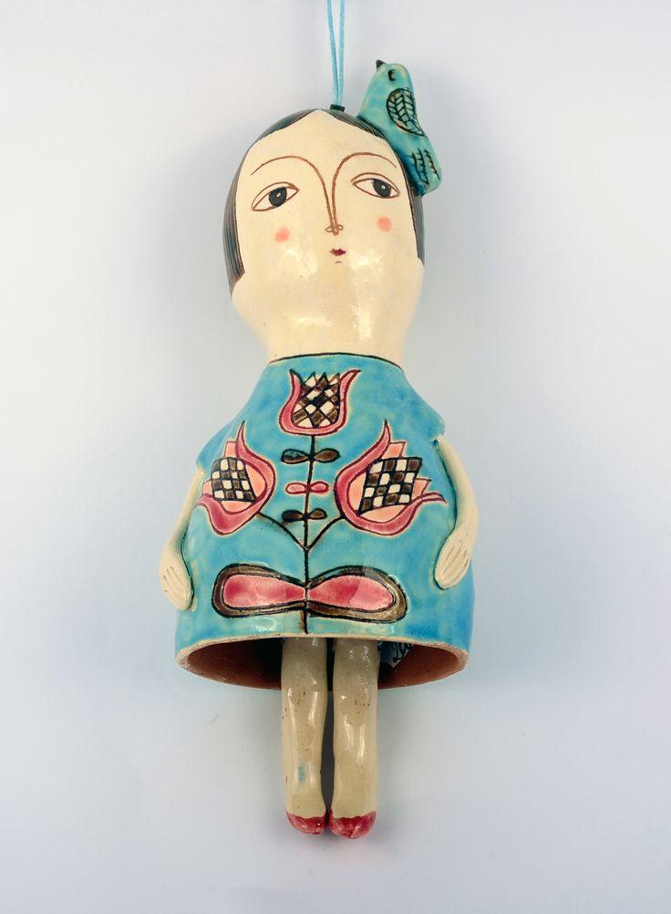 Clopoțel păpușă din ceramică – 200 lei | EliteArtGallery - galerie de artă