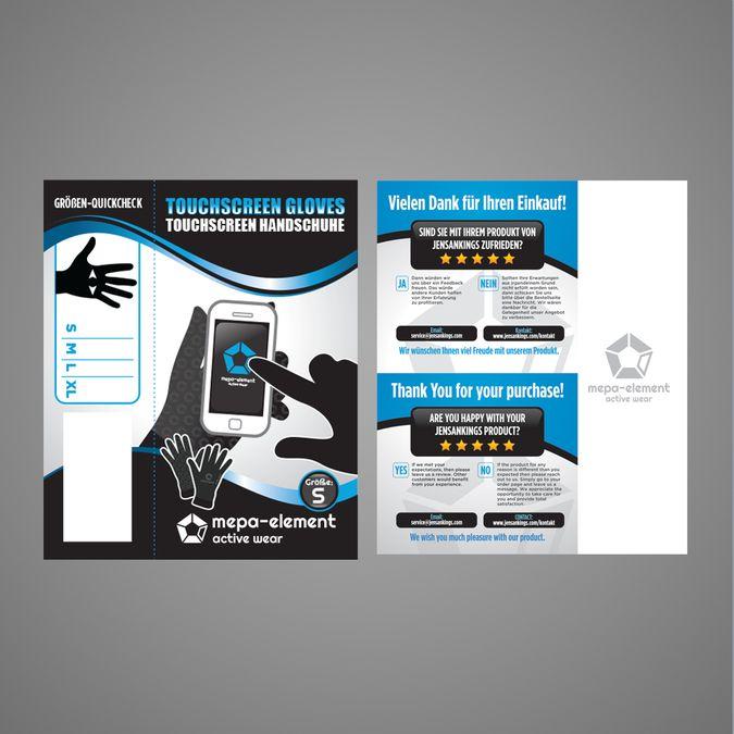 Professional Printdesign for smartphone gloves by Dzhafir