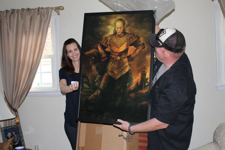 Art work for the baby's room. It is VIGO! (Ghostbusters II) PERFECT!