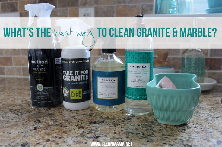 Perplexed on how to clean your granite and marble the BEST way? Look no further than this post from Clean Mama to get the job done!