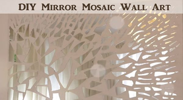 To make this mirror mosaic you start by breaking a mirror into pieces. So it's a great project when you happen to either break a mirror or come across one that someone is throwing away. Another idea is to check with a mirror shop to see if they have any broken pieces you could have. …