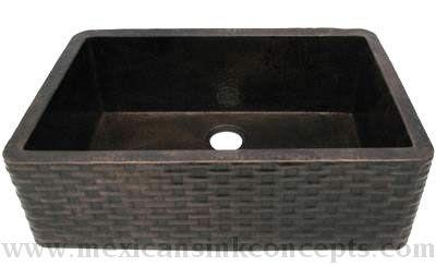 CopperSinks.COM : Hammered Copper Apron Farmhouse Sink Model: AL-51 ...