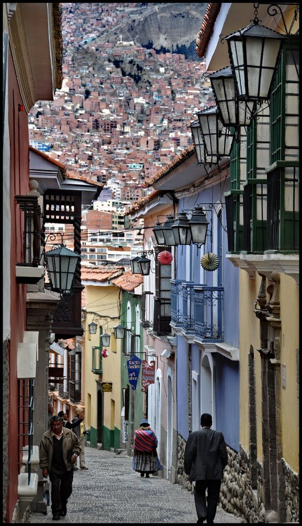 La Paz, Bolivia: There's just something about a windy, cobbled street that makes me want to go down it.