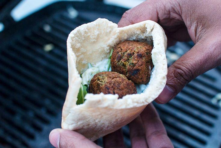 vegansk grillet falafel oppskrift