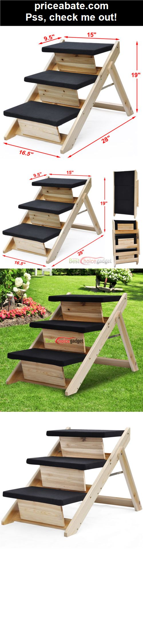 Folding 2-in-1 Pet Ramp & Stairs for Dogs Cats Pet Steps Ladder Animal Portable - #priceabate! BUY IT NOW ONLY $25.49