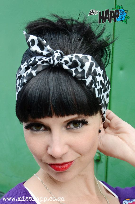 Leopard bandana by Miss Happ on Etsy, I cant wait till my side shave grows out!!