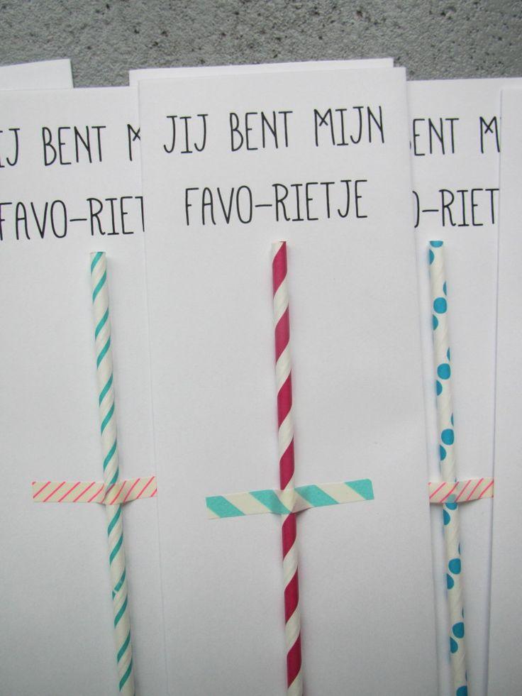 Favo-rietje: idee voor valentijn of uit te delen als complimentje
