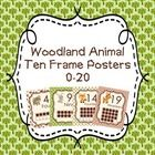 These sweet ten frame posters are great for a woodland animal theme classroom. Includes numbers 0-20. There are four different designs, bear, bunny...