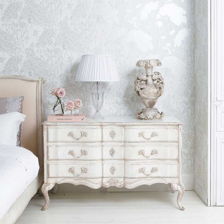 Delphine Distressed Painted Chest of Drawers The French Bedroom Company