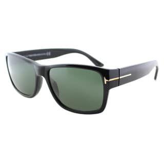 7fa4aafd5a Shop for Tom Ford Mens TF 445 Mason 01N Black Plastic Rectangle Sunglasses.  Get free