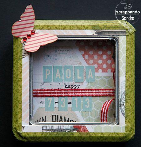 Mini Album in scatola di latta alterata by Sandra #metal tin mini album