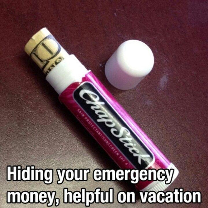 : Hiding Places, Help Tips, Good Ideas, Lips Balm, Travel Tips, Money Holders, Lifehacks, Life Hacks, Help Hints