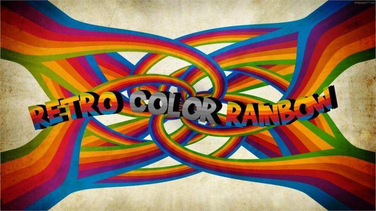 Стиль ретро стиль полосы цвета надписи 4 Размеры Домашнего Декора Холст Печати Плакатов