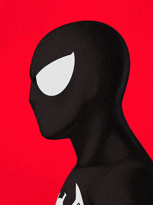 Black Spiderman - Character Design Illustrations by Guy McKinley