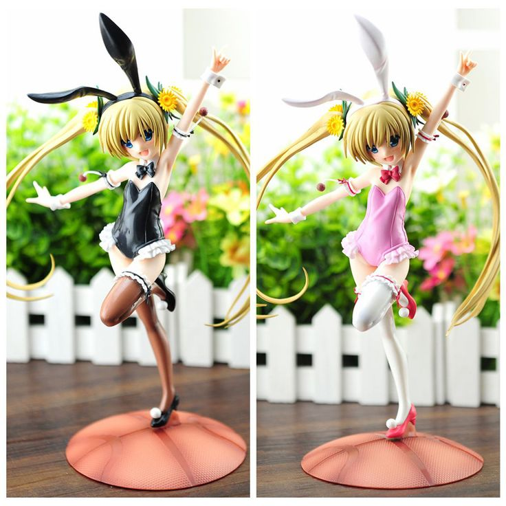 29cm  Ro-Kyu-Bu! Misawa really sail Black& pink bunny Action Figure doll toys best Christmas gift for children