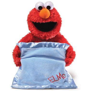 The Peek-A-Boo Elmo - Hammacher Schlemmer