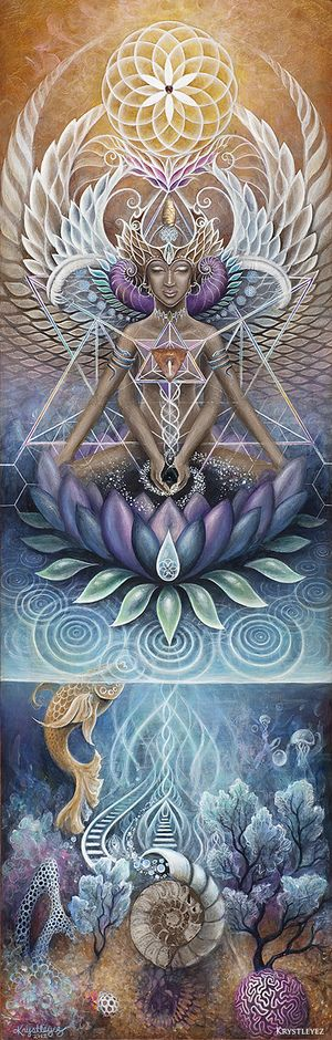 A Visionary Art Explosion at Sonic Bloom 2014! Artist: Krystleyez. The message she conveys in her art is the interconnectedness of everything through sacred geometry, balance of masculine and feminine.