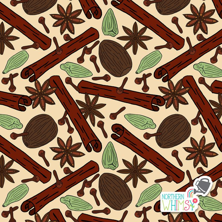 A closer look at one of the repeating patterns from Northern Whimsy's Christmas Spice collection.