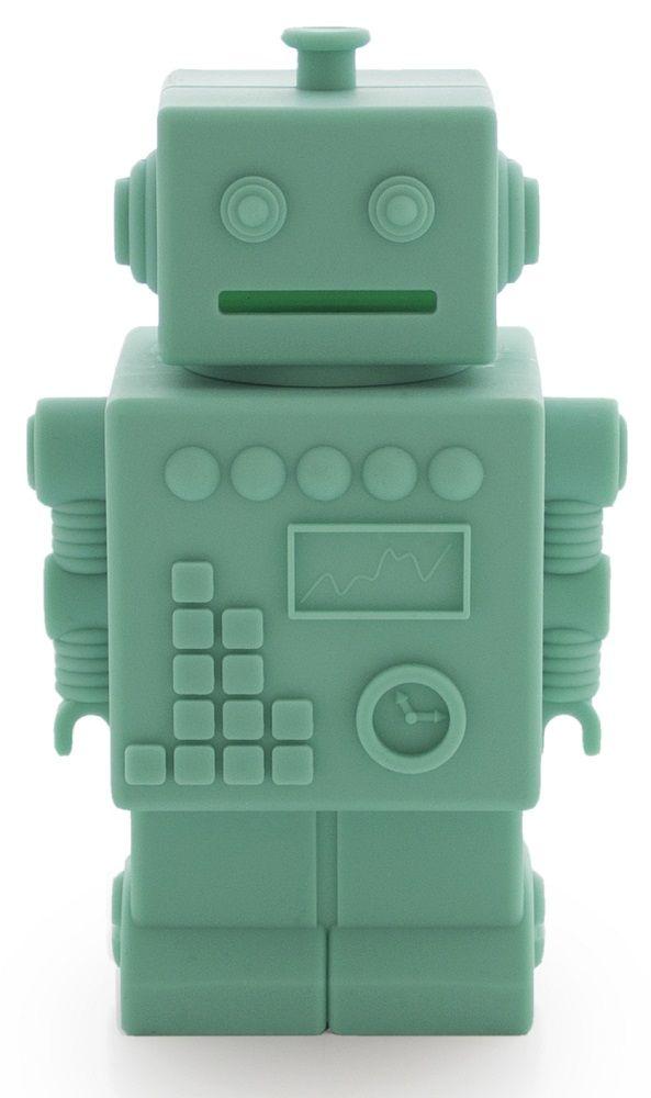 KG Design spaarpot robot mint 16 cm   PSikhouvanjou