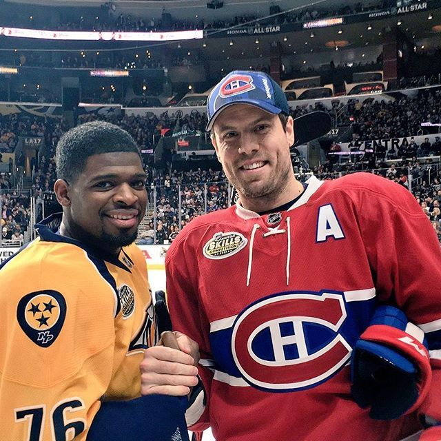 P.K. Subban and Shea Weber. I wish we hadn't traded Shea, I miss him being with the preds.