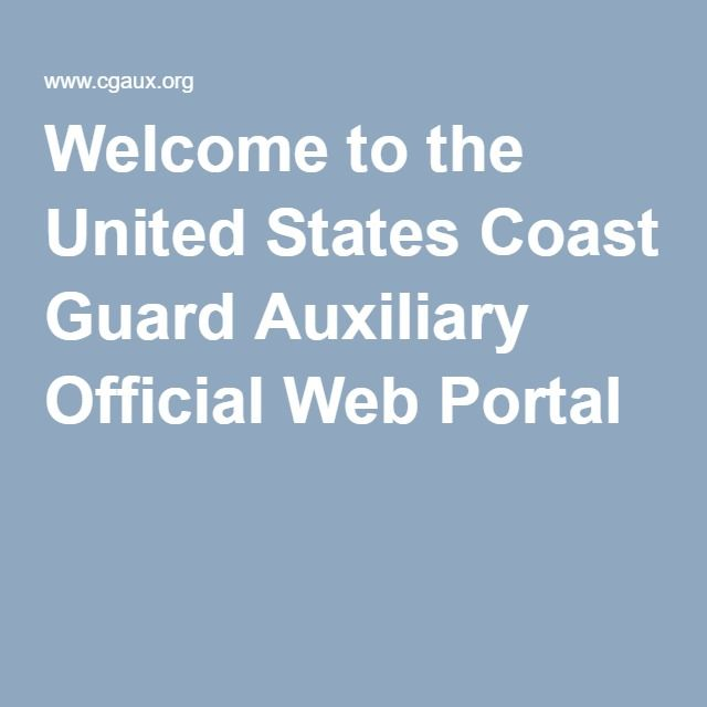Vessel check, safety course and info at United States Coast Guard Auxiliary Official Web Portal