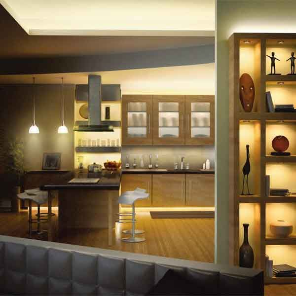 Led cabinet lighting for Chic Kitchen Design - Hampton Bay Lighting