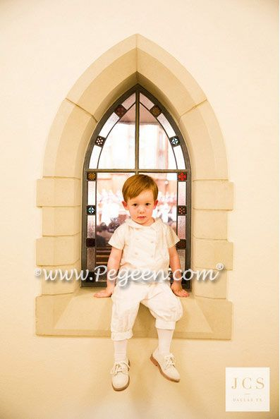2bceb73060 Boys silk ring bearer suit Available in 200 silk colors for optional vest