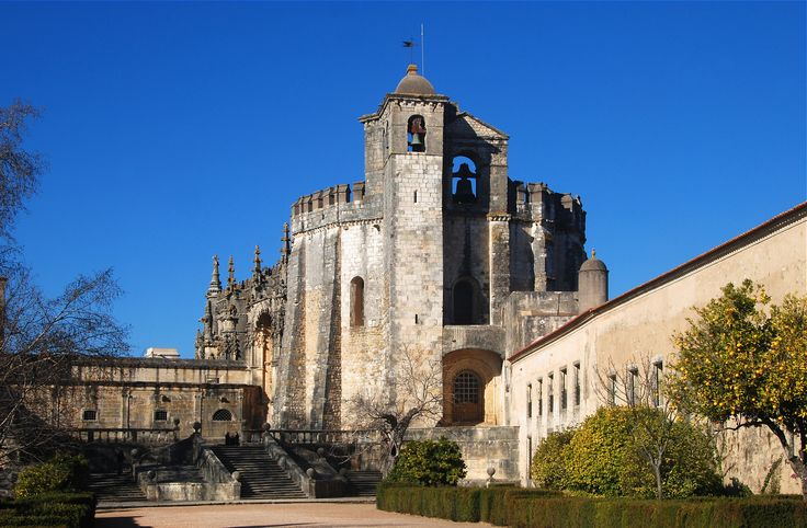 A knight templar stronghold built in the 12th century - Convent of the Order of Christ, Tomar, Portugal
