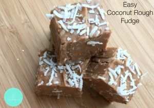 Coconut Rough is one of my favourite sweet treats so it was really only a matter of time until I turned it into a fudge. This Easy Coconut Rough Fudge is based on one of my go to chocolate fudge recipes as it's just so easy to make and there is no liquid glucose to worry about.