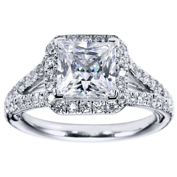 Princess Cut Halo Engagement Ring Setting 31 Gerry The Jeweler Jewelry