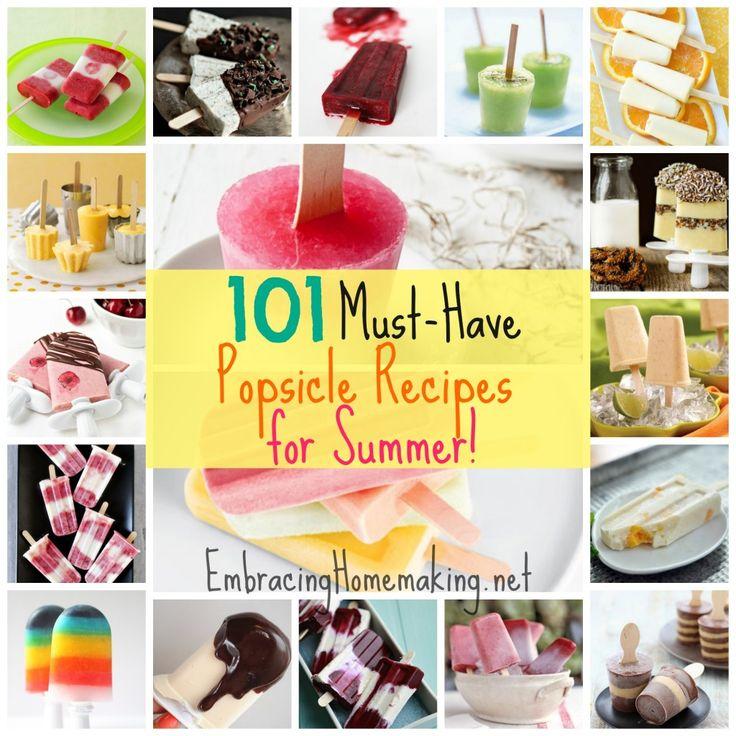 Popsicles Recipes: 101 Homemade Ice Pops