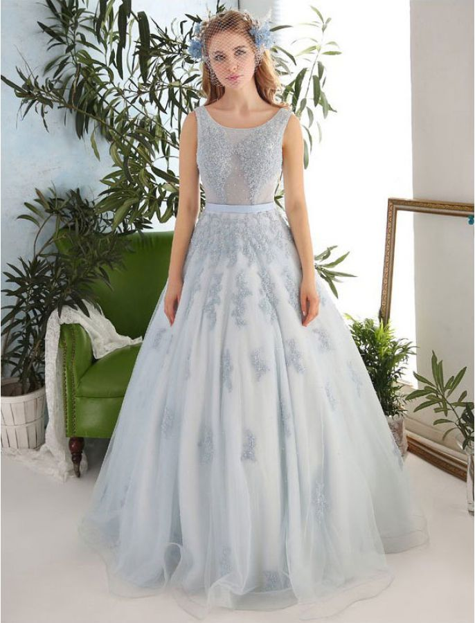 Romantic Vintage Inspired Embroidered Dress Wedding Dress