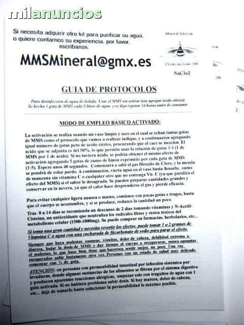 MIL ANUNCIOS.COM - MMS Comprar clorito de sodio 28%