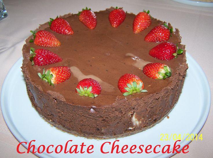 Chocolate Cheesecake. Find the recipe at www.whatscookingella.com/blog/chocolate-cheesecake2