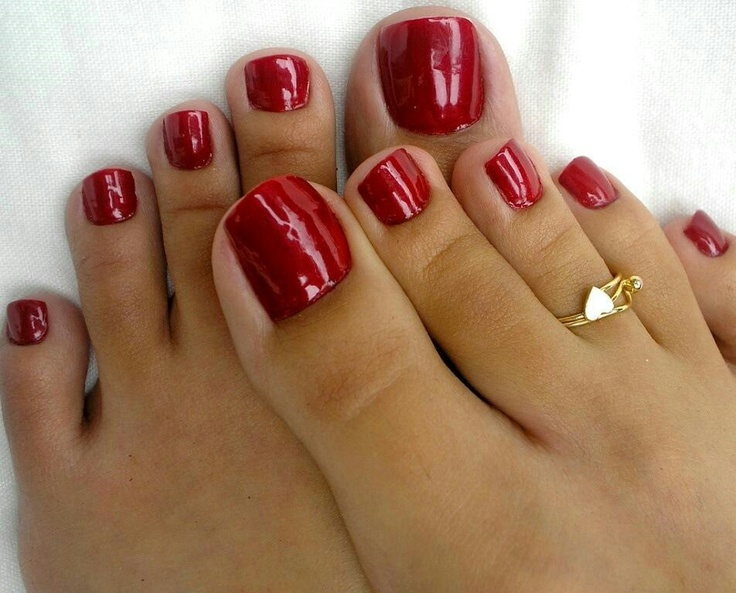 Pin On Sexy Red  Black Toes